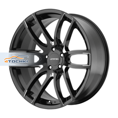 Диски Lorenzo WL36 Black/Machined 8,5x20/5x120 ЕТ15 D74,1