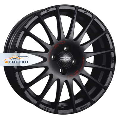 Диски OZ Superturismo GT Matt Black + Red Lettering 7x16/5x115 ЕТ35 D70,2