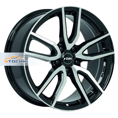 Диски Rial Torino Diamant black front polished 7,5x17/5x108 ЕТ48 D70,1