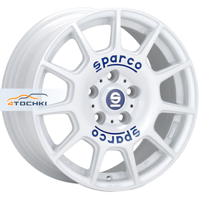 Диски Sparco Terra White + Blue Lettering