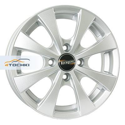 Диски Tech Line 411 Silver 5x14/4x98 ЕТ35 D58,6