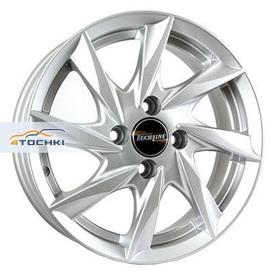 Диски Tech Line 418 Silver 5,5x14/4x100 ЕТ35 D67,1